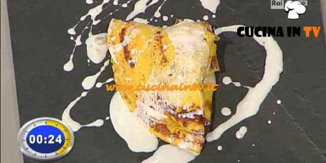 La Prova del Cuoco - ricetta Crespelle di polenta con funghi salsiccia lodigiana e zola