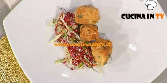 La Prova del Cuoco - ricetta Cubi di vitello su insalatina di puntarelle e pomodori secchi