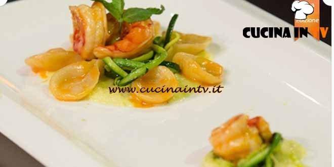 Masterchef 4 - ricetta Gnocchetti al limone con zucchine menta e gamberi di Alessandro