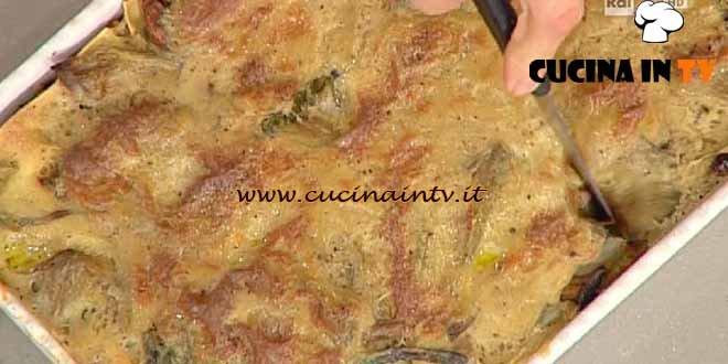 La Prova del Cuoco - Lasagne con carciofi fagiolini e funghi ricetta Bianchi