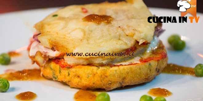 Masterchef 4 - ricetta Parmigiana di melanzane con ripieno di radicchio trevigiano di Carmine