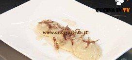 Masterchef 4 - ricetta Ravioli al gorgonzola con pere e speck croccante di Ilaria