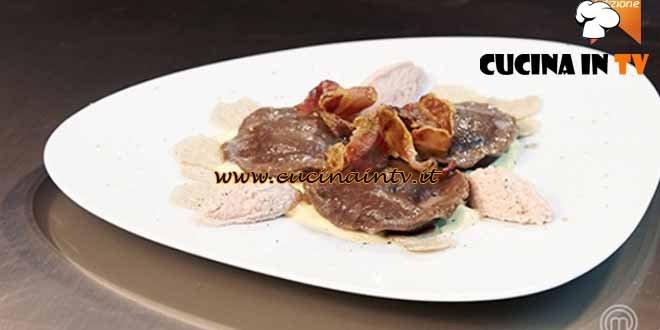 Masterchef 4 - ricetta Ravioli di pasta di cacao ripieni con tuorlo d'uovo e ricotta di Simone