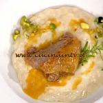 La Prova del Cuoco - Risotto al Castelmagno con guancia di vitello brasata ricetta Fava