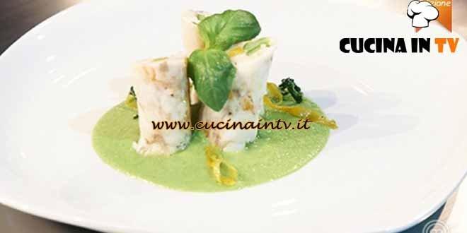 Masterchef 4 - ricetta Rollè di branzino con gamberi e verdure croccanti di Fabiano