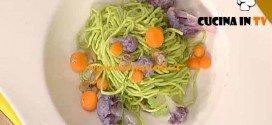 La Prova del Cuoco - Tagliolini verdi con vongole e broccoli ricetta Barzetti