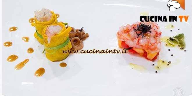 Masterchef 4 - ricetta Antipasto di mare d'estate e d'inverno di Simone