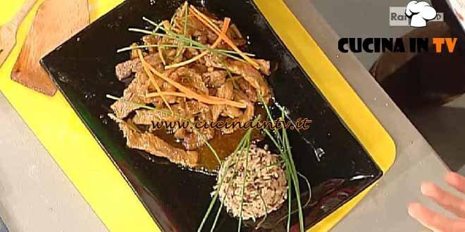 La Prova del Cuoco - Bastoncini di manzo zenzero e soia ricetta Messeri