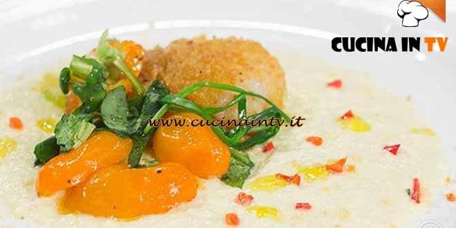 Masterchef 4 - ricetta Capesante gratinate su crema di ricotta e porri di Paolo