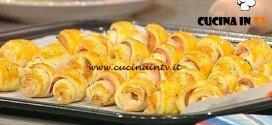 La Prova del Cuoco - Cornetti friabili al salmone ricetta Moroni