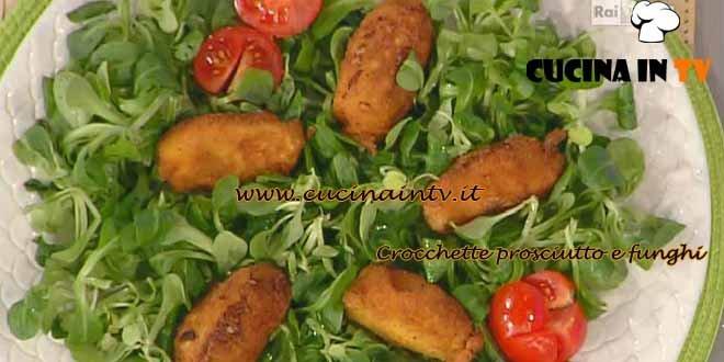 La Prova del Cuoco - ricetta Crocchette prosciutto e funghi