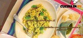 La Prova del Cuoco - Farfalle con pesto di menta e pecorino ricetta Clerici