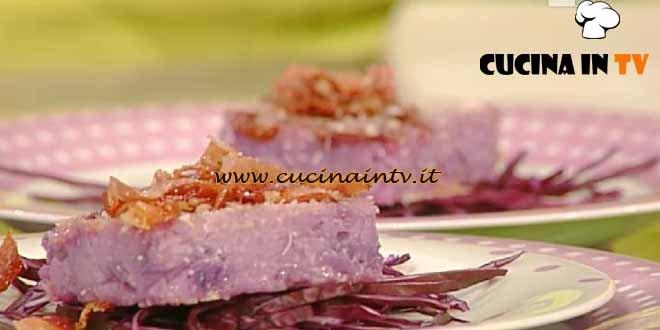 La Prova del Cuoco - Fetta di risotto al cavolo cappuccio viola ricetta Barzetti