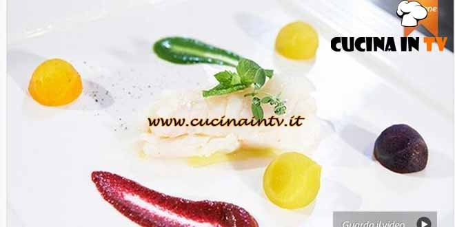 Masterchef 4 - ricetta Filetto di merluzzo con crema di bietole e crema di barbabietole di Silvana