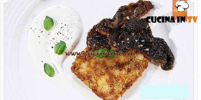 Masterchef 4 - ricetta Hamburger vegetariano con pelli di rombo di Maria