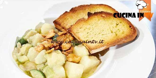 Masterchef 4 - ricetta Minestra di zucchine e patate con fave fritte di Silvana