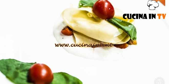 Masterchef 4 - ricetta Mozzarella inturtià nella lasagna di Fabiano