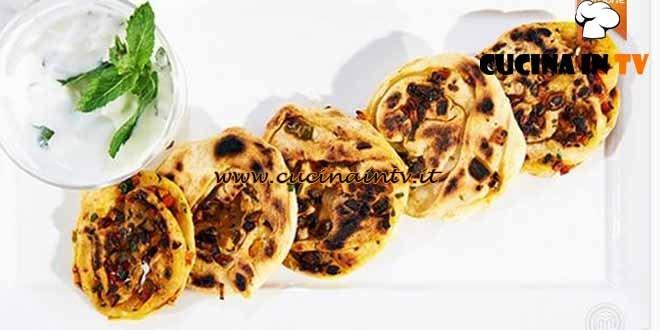 Masterchef 4 - ricetta Pane arabo farcito vegetariano di Giuseppe