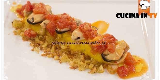 Masterchef 4 - ricetta Patate allo zafferano con cozze anconetane di Stefano