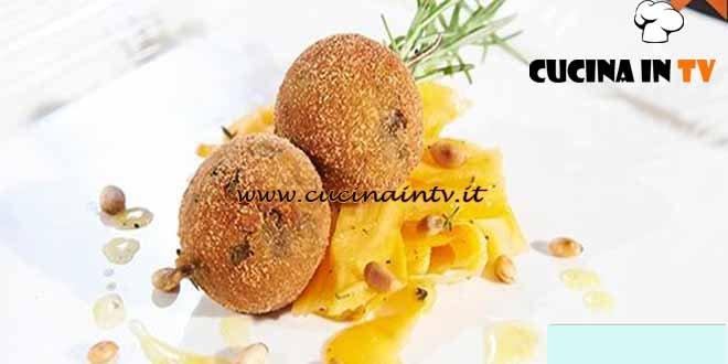 Masterchef 4 - ricetta Polpette di melanzane con carote ghiacciate e pinoli tostati di Viola