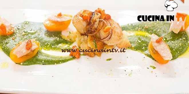 Masterchef 4 - ricetta Pomodorini con il tonno a sorpresa e capesante in agrodolce di Arianna