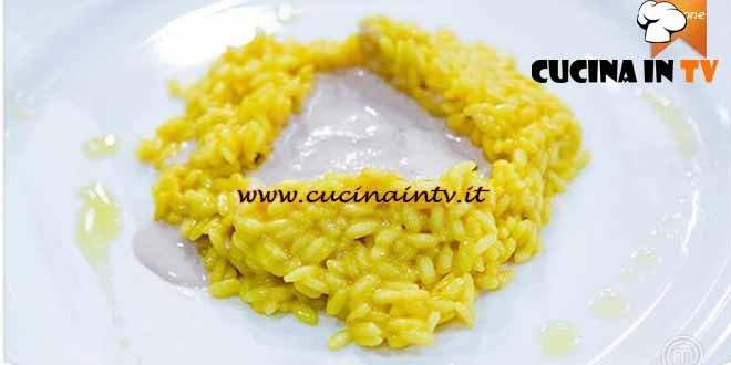 Masterchef 4 - ricetta Risotto alla milanese con crema di ossobuco di Giuseppe