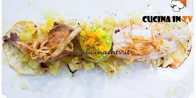 Masterchef 4 - ricetta Sapori di terra e mare di Fabiano