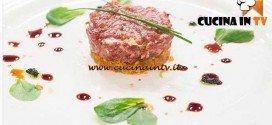 Masterchef 4 - ricetta Tartare di cavallo al wasabi con cialda di ventresca di Ilaria