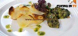 Masterchef 4 - ricetta Tranci di San Pietro in crosta di patate con battuta di zucchine alla menta di Bruno Barbieri