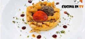 Masterchef 4 - ricetta Trippa in umido con polpette di formaggio speziate di Filippo