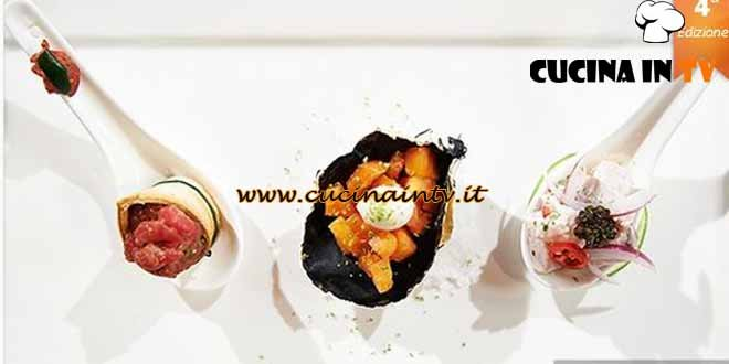 Masterchef 4 - ricetta Tris di finger food di Lorenzo Boni, Damiano Naccari e Miguel Casas