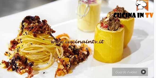 Masterchef 4 - ricetta Variazione di Zucchine Gialle di Michele Maino