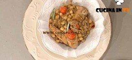 La Prova del Cuoco - Zuppa ceci radicchio e rosticciana ricetta Messeri