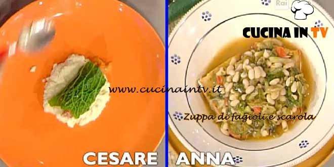 La Prova del Cuoco - Zuppa di fagioli e scarola ricetta Moroni
