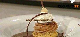 La Prova del Cuoco - Bignè cioccolato e pera caramellati ricetta Castagna