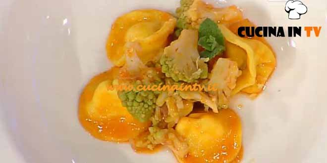 La Prova del Cuoco - ricetta Cappelletti alla ricotta con cavolo romanesco pomodoro e limone