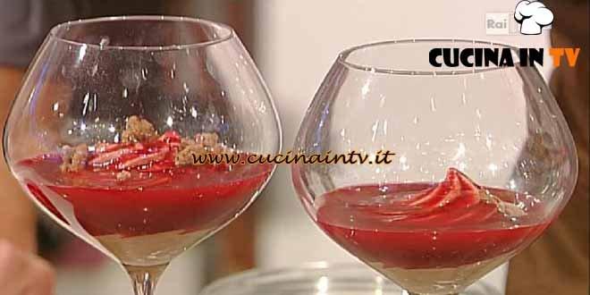 La Prova del Cuoco - Coppa cioccolato al latte lampone ricetta Castagna