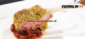 Masterchef 4 - ricetta Costolette d'agnello in crosta di pistacchi e chutney di rabarbaro e fragole di Federica