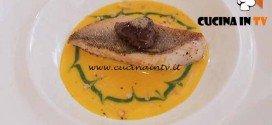 Masterchef 4 - ricetta Filetto di pesce persico su vellutata di zucca e crema di spinaci di Nicolò