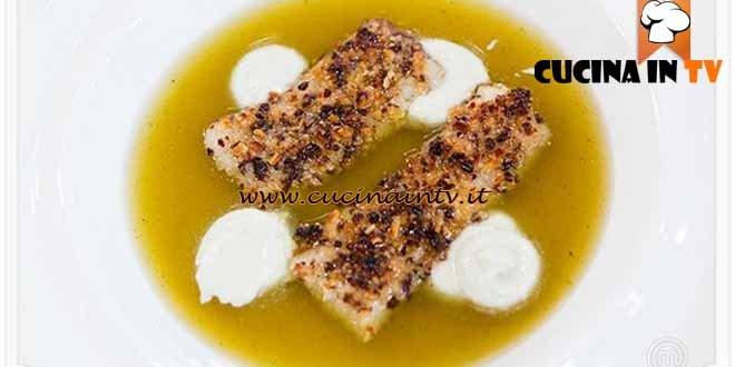 Masterchef 4 - ricetta Filetto di spatola in acqua di pomodoro di Valentina