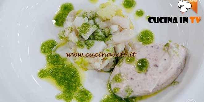 Masterchef 4 - ricetta Hamburger di spatola con quenelle di mascarpone e olive di Paolo