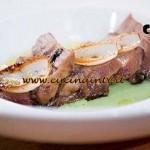 Masterchef 4 - ricetta Lingua di maiale purea di fave e cipolla croccante di Stefano