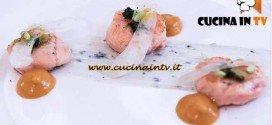 Masterchef 4 - ricetta Medaglioni di trota in equilibrio tra il dolce e il salato di Amelia