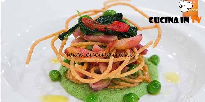 Masterchef 4 - ricetta Millefoglie di spaghetti di Paolo