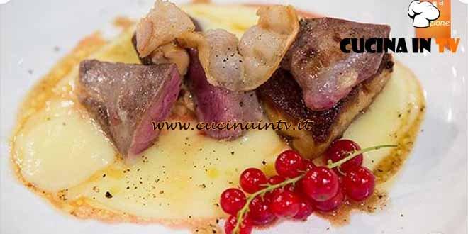 Masterchef 4 - ricetta Petto di piccione scottato e foie gras di Stefano