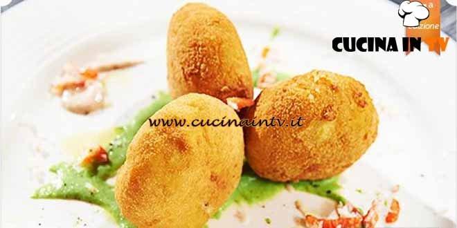 Masterchef 4 - ricetta Polpette di granseola con passata di piselli ed emulsione di acciughe di Stefano