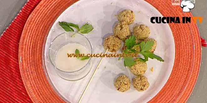 La Prova del Cuoco - Polpettine allo zenzero con maionese al cocco ricetta Taglialatela