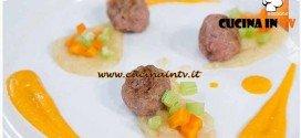 Masterchef 4 - ricetta Polpettine di salsiccia su crema di patate e pancetta di Amelia