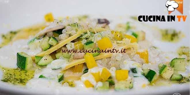 Masterchef 4 - ricetta Raviolo aperto con caviale di lumache profumato al limone e fonduta di parmigiano di Amelia