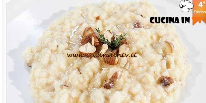 Masterchef 4 - ricetta Risotto Castelmagno nocciole e miele di Paolo